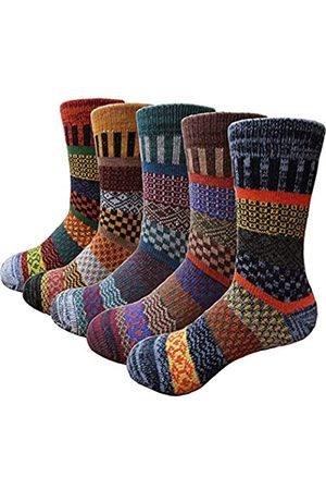 HZYMS Dicke warme Wollsocken für Herren – gemütliche Vintage-Socken für den Winter, Weihnachtsgeschenke
