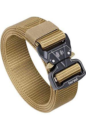 Fairwin Taktischer Gürtel, 3,8 cm breit, strapazierfähig, Militär-Stil, taktischer Gürtel für Herren, Unisex Herren