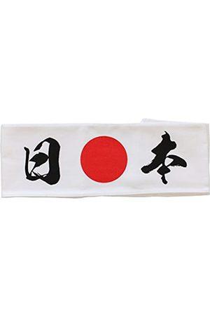 First Arrow Japanisches Hachimaki Stirnband Nippon (Japan) Kanji und Hinomaru Sonne Print