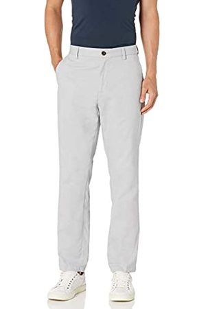 Amazon Classic-Fit Wrinkle-Resistant Flat-Front Chino Pant Unterhose, Light Grey
