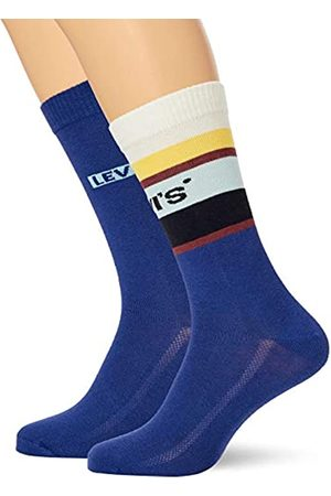 Levi's Unisex-Adult Colour Block Stripe Regular Cut (2 Pack) Sock
