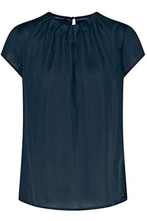 Taifun Damen Blusenshirt mit gekräuseltem Ausschnitt figurumspielend 36