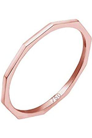 Elli Elli PREMIUM Ring Damen Geo Eckig Trend Basic Minimal Look 750er Roségold