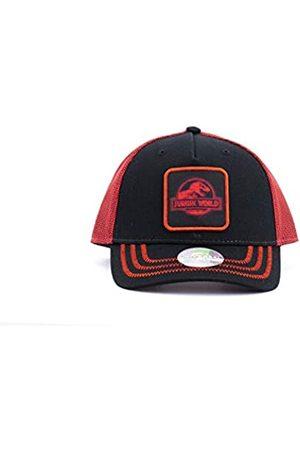 Essencial Caps Essencial Caps Unisex Jurassic World Baseballkappe, schwarz/rot