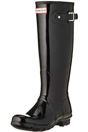Hunter Damen Original Tall Gloss Wellington Boots Gummistiefel, (Black Blk)