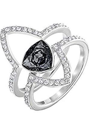 Swarovski Swarovski Damen-Stapelring Fantastic Set Crystal Silver Night weiß Kristall Gr. 48 (15.3) - 5257513