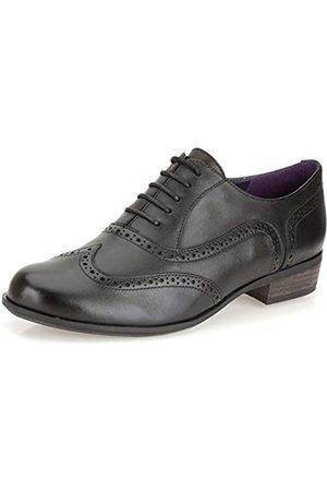 Clarks Damen Hamble Oak Schnürhalbschuhe, (Black Leather)