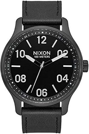Nixon Herren Analog Quarz Uhr mit Leder Armband A1243-2998-00