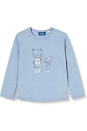 Sanetta Sanetta Baby-Mädchen Sky Blue Trendiges Sweatshirt in zartem mit süßem Emma The cat Print Kidswear
