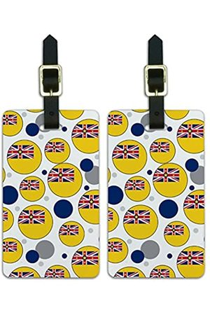 Graphics and More Graphics & More J-n-Niue Nationalflagge (Weiß) - Luggage.Tags.09653