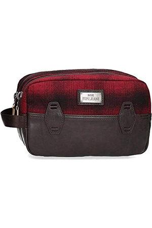 Pepe Jeans Pepe Jeans Scotch Anpassungsfähiger Vanity Case mit zwei Fächern Rot 26x16x12 cms Polyester und PU