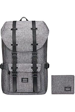 KAUKKO Reise-Laptop-Rucksack, strapazierfähiger Outdoor-Rucksack mit verdickter Computer-Innentasche, wasserabweisender Schulrucksack Geschenke für Männer und Frauen, passend für 39,6 cm (15,6 Zoll) Notebook, Unisex-Erwachsene