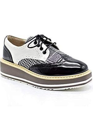 Cetula Handgefertigte Schnürschuhe mit Hahnentrittmuster für vier Jahreszeiten, Oxford-Schuhe für Damen, (Schwarzer Hahnentritt)