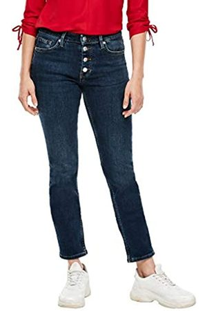 s.Oliver S.Oliver Damen Regular Fit: Jeans mit Knopfleiste dark blue 38.30