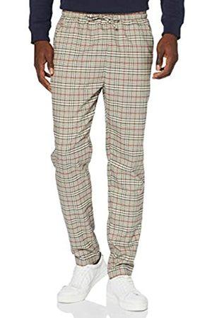 Urban classics Herren Tapered Check Jogger Pants Hose