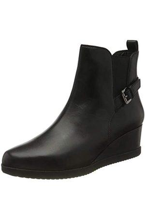 Geox Damen D ANYLLA WEDGE C Ankle Boot, (Black)