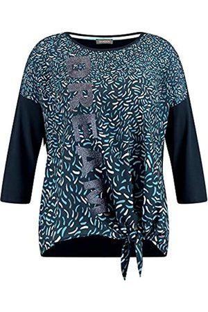 Samoon Damen 3/4 Arm Shirt mit Satin-Front leger