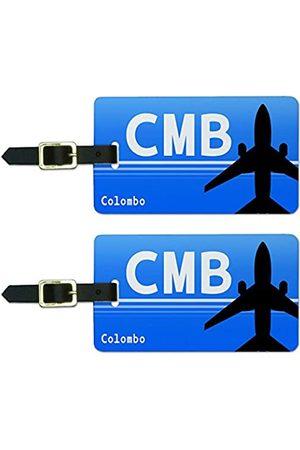 Graphics and More Graphics & More Colombo Sri Lanka (CMB) Flughafen-Code Gepäck Koffer Handgepäck ID Tags (Weiß) - Luggage.Tags.51110