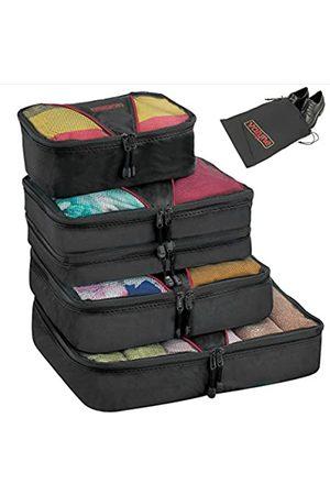Valyne Valyne Packing Cubes 4-teiliges Set Gepäck-Organizer-Taschen mit gratis Schuhbeutel (Schwarz) - 6786012