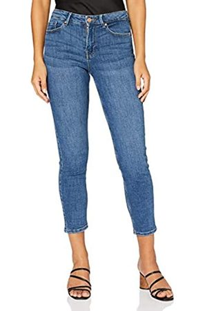 Pieces PIECES Damen PCLILI Slim MW CR MB255-VI/NOOS BC Jeans, Medium Blue Denim