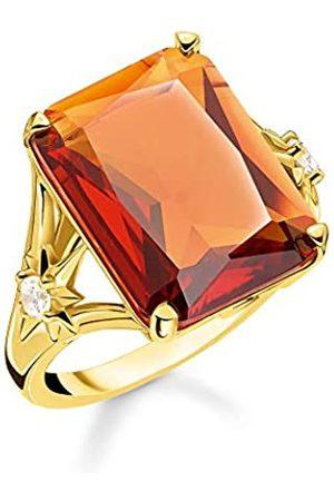 Thomas Sabo Thomas Sabo Damen-Ring Stein Orange groß mit Stern 925 Sterlingsilber gelbgold vergoldet TR2261-971-8-52