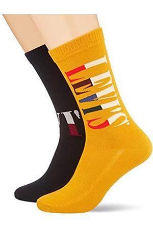 Levi's Herren Socken & Strümpfe - LEVIS Unisex-Adult Split Tall Logo Regular Cut (2 Pack) Socks