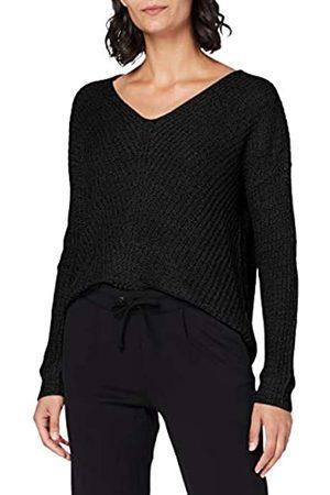 JDY Damen new Megan L/S KNT Noos Pullover, Black