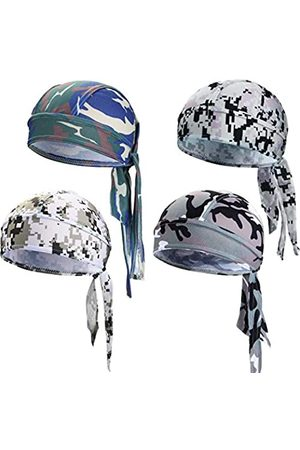 Chuangdi Sweat-Wicking Beanie Cap Skull Cap, Quick-Drying Pirate Hats for Men and Women Favors (Camouflage Caps