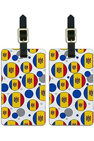 Graphics and More Graphics & More J-n-Moldova Nationalflagge (Weiß) - Luggage.Tags.09636