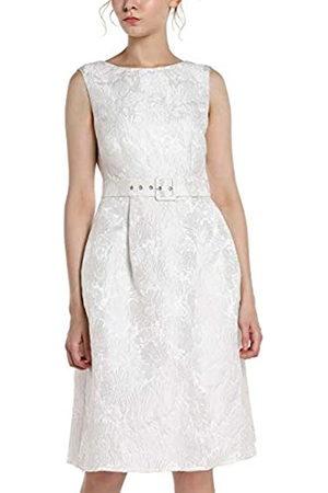 Apart Damen Partykleider - APART Elegantes Damen Kleid, Cocktailkleid, Brautkleid, aus Jacquard, crème-Farben, ärmellos, V-Ausschnitt im Rückenpart