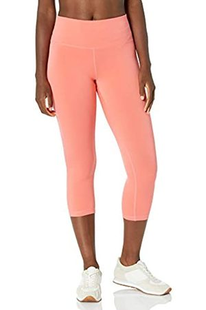 Amazon Damen Performance Capri Legging, Pink(Helles Korallenrot)