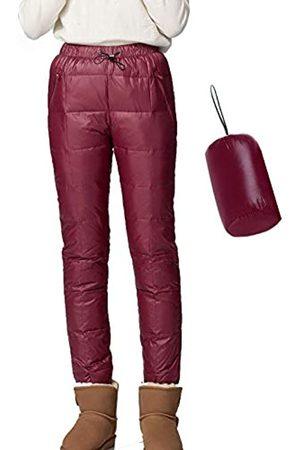 Flygo Flygo Damen verstaubare Winterhose mit Kompressions-Daunenhose - Rot - X-Groß