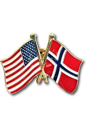 Backwoods Barnaby Backwoods Barnaby Freundschaftsnadel / Amerikanische Norwegische gekreuzte Flaggen Brosche