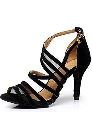 Dress First Dress First Tanzschuhe für Damen, 5,8 cm, Tanzen, High Heels, Salsa-Schuhe, Lateinamerikanische Sandalen, Pumps (schwarz)
