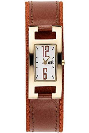 CLIPS Clips Damen-Armbanduhr Analog Quarz Leder 553-1006-16
