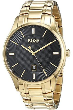 HUGO BOSS Hugo Boss Herren Datum klassisch Quarz Uhr mit Edelstahl Armband 1513521