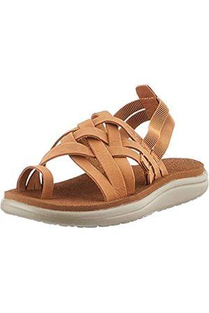 Teva Damen Voya Strappy Leather Womens Sandalen, (Chipmunk CPM)