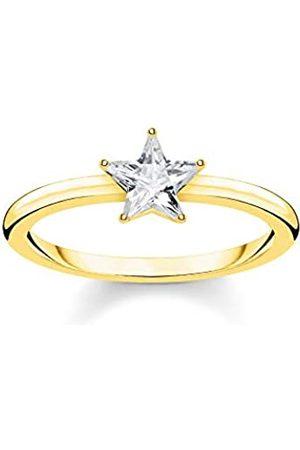 Thomas Sabo Thomas Sabo Damen-Ring Funkelnder Stern 925 Sterlingsilber gelbgold vergoldet TR2270-414-14-56