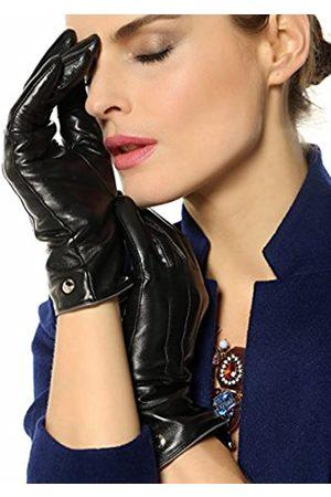 ELMA Damen Handschuhe - Damen klassisch touchscreen texting winter-m fahrhaarschaf lederhandschuh 100% reines kaschmirfutter 7.5