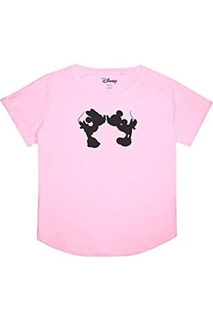 Disney Damen Mickey and Minnie Mouse Kiss Silhouette T-Shirt