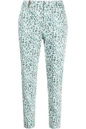 PESERICO SIGN Abstract pattern print trousers