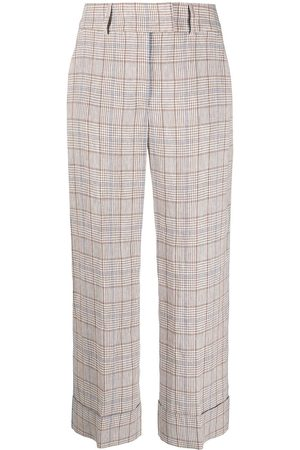 PESERICO SIGN Check print trousers - Nude