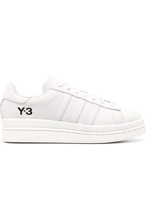 Y-3 Tonal leather trainers