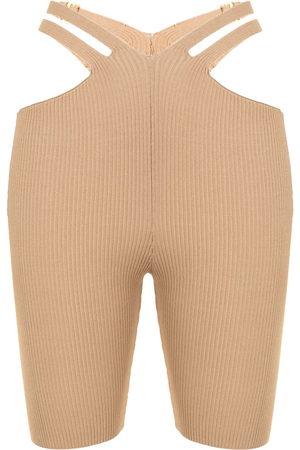 DION LEE Knielange Shorts - Nude