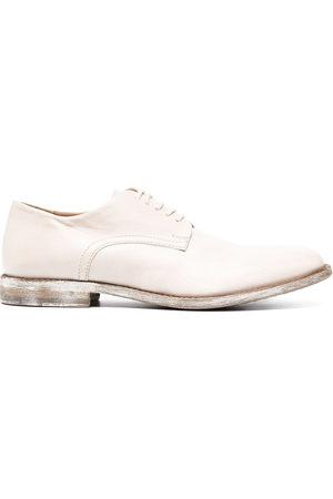 Moma Damen Schnürschuhe - Oxford-Schuhe im Distressed-Look - Nude