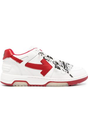 OFF-WHITE OUT OF OFFICE CALF LEATHER WHITE RED