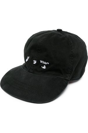 OFF-WHITE Herren Caps - OW LOGO BASEBALL CAP BLACK WHITE
