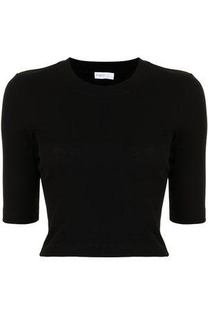 ROSETTA GETTY Cropped short-sleeve top