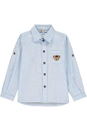 Steiff Steiff Jungen Langarm Hemd, Blau gestreift (6027)