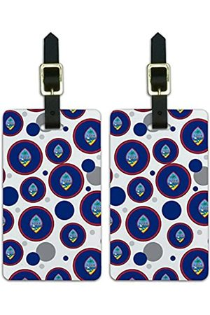 Graphics and More Graphics & More C-i-Guam Nationalflagge (Weiß) - Luggage.Tags.09588